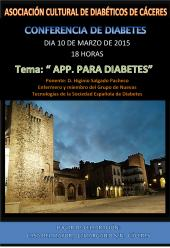 cartel Conferencia APP. DIABETES